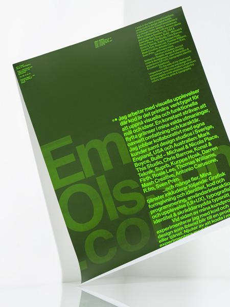 Emil Olsson Launch Poster