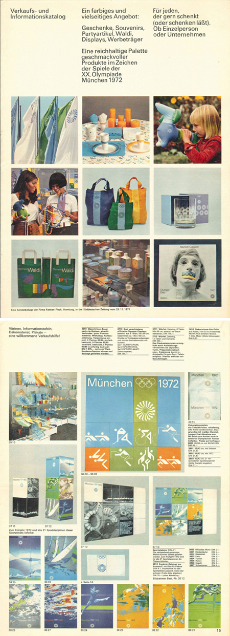 Munich '72 merchandise catalog