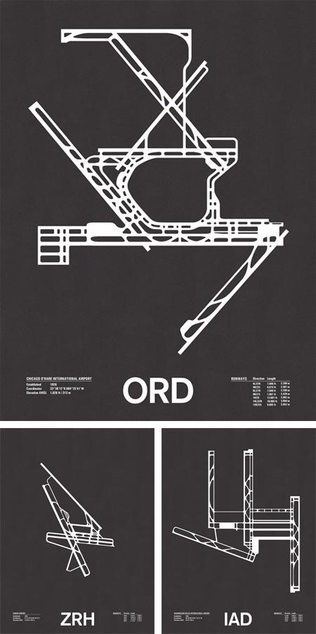 Airport Runway Screenprints