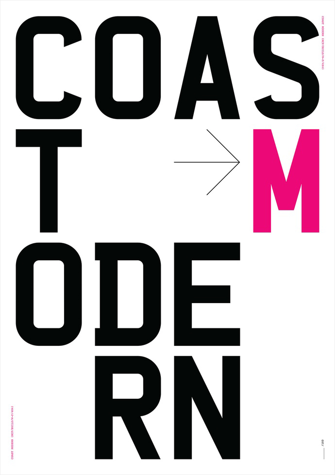 Build Coast Modern Poster